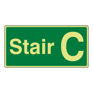 Photoluminescent Stair C Sign