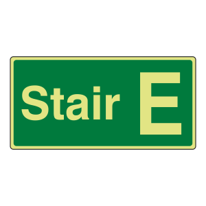 Photoluminescent Stair E Sign