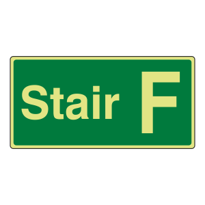 Photoluminescent Stair F Sign
