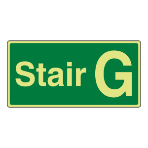 Photoluminescent Stair G Sign