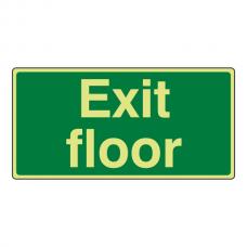 Photoluminescent Exit Floor Sign