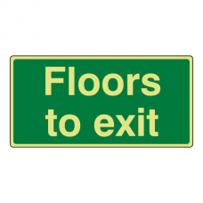 Photoluminescent Floors To Exit Sign