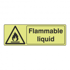 Photoluminescent Flammable Liquid Sign (Landscape)