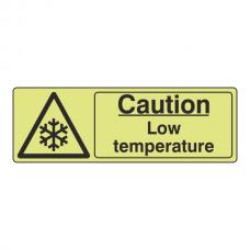 Photoluminescent Caution Low Temperature Sign (Landscape)