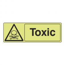 Photoluminescent Toxic Sign (Landscape)
