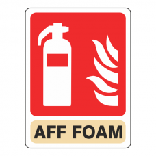 General AFF Foam Extinguisher Sign