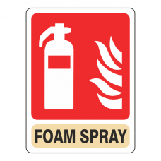 General Foam Spray Extinguisher Sign