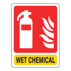 General Wet Chemical Extinguisher Sign
