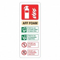 AFF Foam Extinguisher ID Sign (Portrait)