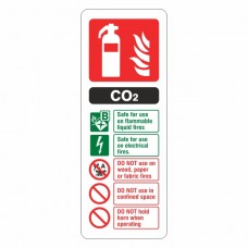 CO2 Fire Extinguisher ID Sign (Portrait)