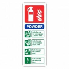 Powder Extinguisher ID Sign (Portrait)