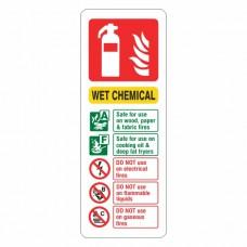 Wet Chemical Extinguisher ID Sign (Portrait)