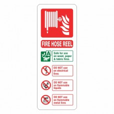 Fire Hose Reel Extinguisher ID Sign (Portrait)