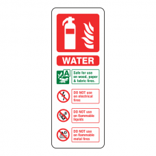 Water Fire Extinguisher ID Sign (Portrait)