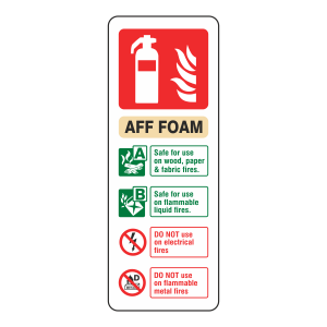 AFF Foam Extinguisher ID Sign (Portrait)