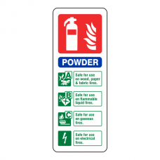 Powder Extinguisher ID Sign (Portrait)