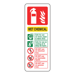 Wet Chemical Extinguisher ID Sign (Portrait)