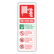 Fire Hose Reel Extinguisher ID Sign (Portrait)