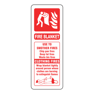 Fire Blanket ID Sign (Portrait)