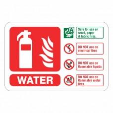 Water Extinguisher ID Sign (Landscape)