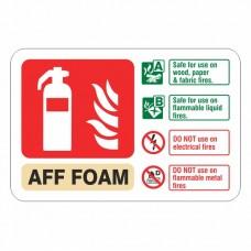 AFF Foam Extinguisher ID Sign (Landscape)