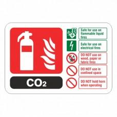 CO2 Extinguisher ID Sign (Landscape)