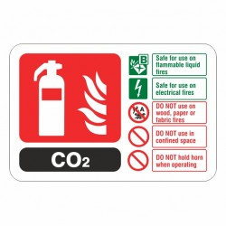 CO2 Extinguisher ID Sign (Landscape)