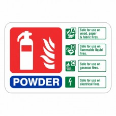 Powder Extinguisher ID Sign (Landscape)