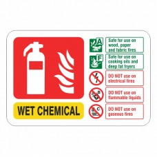 Wet Chemical Extinguisher ID Sign (Landscape)