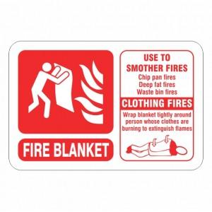 Fire Blanket ID Sign (Landscape)