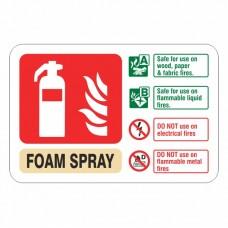 Foam Spray Extinguisher ID Sign (Landscape)
