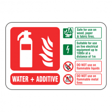 Water + Additive Extinguisher ID Sign (Landscape)