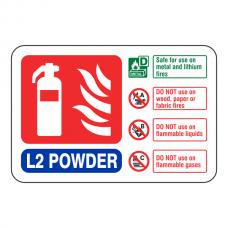 L2 Powder Extinguisher ID Sign (Landscape)