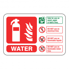 Water Extinguisher ID Sign (Landscape)
