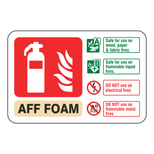 AFF Foam Extinguisher ID Sign (Landscape)