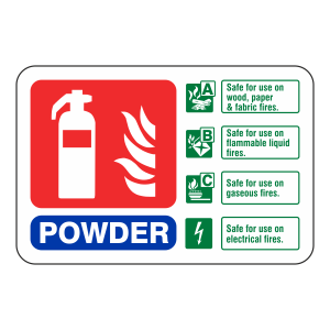 Powder Extinguisher ID Sign (Landscape)