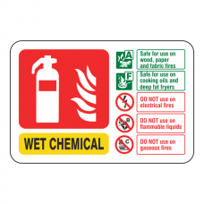 Wet Chemical Extinguisher ID Sign (Landscape)