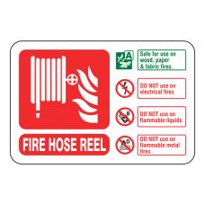 Fire Hose Reel Extinguisher ID Sign (Landscape)