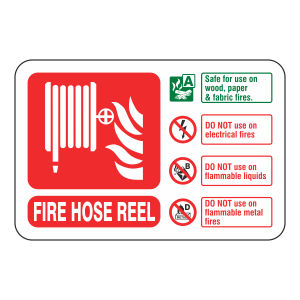 Fire Hose Reel Extinguisher ID Sign (Landscape)