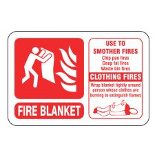 Fire Blanket ID Sign (Landscape)