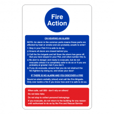 Fire Action Sign - Stay Put