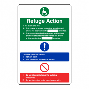 Refuge Action Sign
