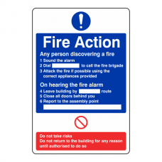 General Fire Action Sign 1
