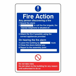 General Fire Action Sign 2