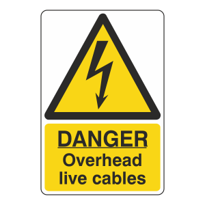 Danger Overhead Live Cables Sign
