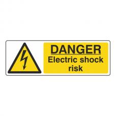 Danger Electric Shock Risk Sign (Landscape)