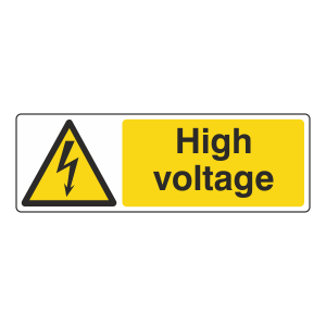 High Voltage Sign (Landscape)