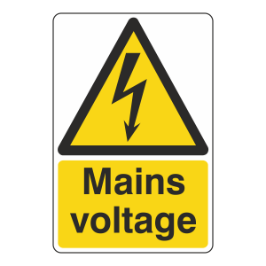 Mains Voltage Sign