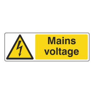 Mains Voltage Sign (Landscape)