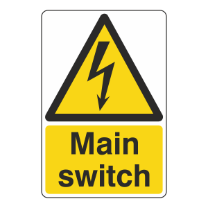 Main Switch Sign